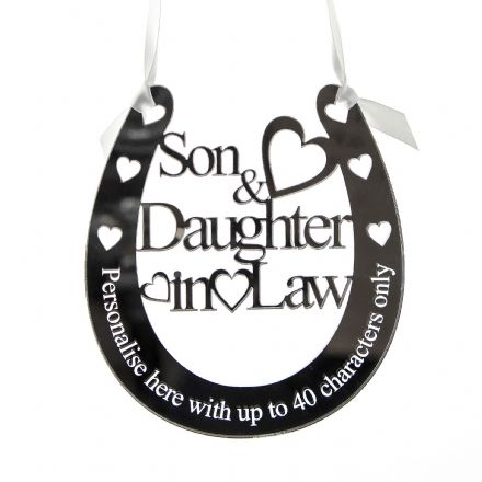 Personalised Wedding Son & Daughter Horseshoe SD1